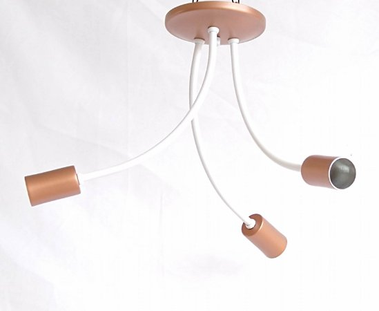 PLAFON ARANHA BCO/COBRE 3 lamp REF:0165/3.004