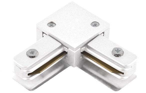 """Conexão """"L"""" para Trilho de Sobrepor - Branco REF: SD1044BR"""