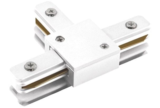 """Conexão """"T"""" para Trilho de Sobrepor - Branco REF: SD1045BR"""