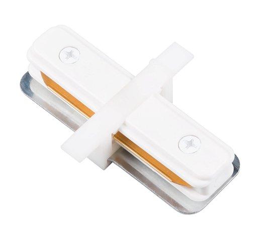 """Conexão """"I"""" para Trilho de Embutir - Branco REF: SD1205BR"""