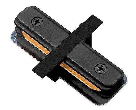"""Conexão """"I"""" para Trilho de Embutir - Preto REF: SD1205PTO"""
