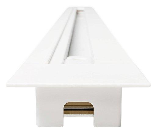 Trilho de Embutir 1m - Branco REF: SD1910BR