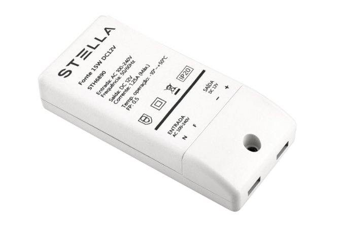 Fonte para LED 12V 15w REF: STH6890