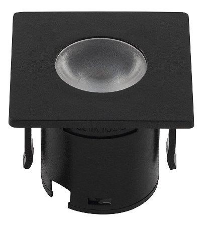 Mini Embutido para Móveis - Preto 1,2w 3000k Biv REF: STH6901/30