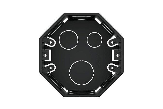 CAIXA 4X4 OCTOGONAL PRETO REF: 8807