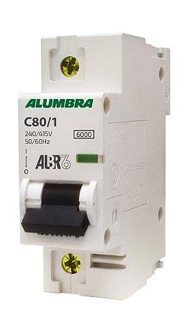 DISJUNTOR UNIPOLAR, ALBR6 C80/1 REF: 9249