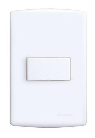 Interruptor SIMPLES 10A 250V HORIZ PL4x2 BRSI REF: 6511