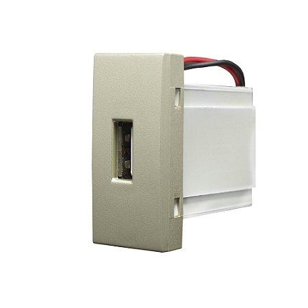 MÓDULO TOMADA USB BIVOLT INOVA PRO CLASS CHAMPA REF: 85449
