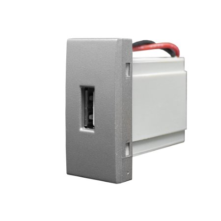 MÓDULO TOMADA USB BIVOLT INOVA PRÓ CLASS TITANIUM REF: 85569