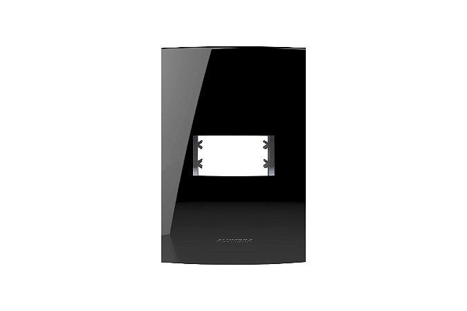 Placa  4X2 1MOD, C/ SUP, INOVA PRO CLASS BLACK PIANO REF: 85526