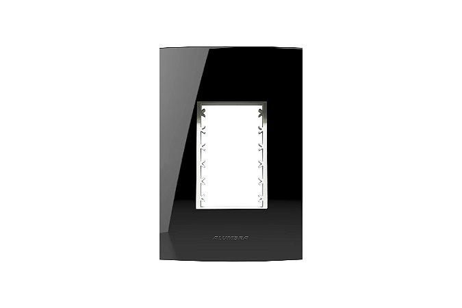 Placa  4X2 3MOD, C/ SUP, INOVA PRO CLASS BLACK PIANO REF: 85528