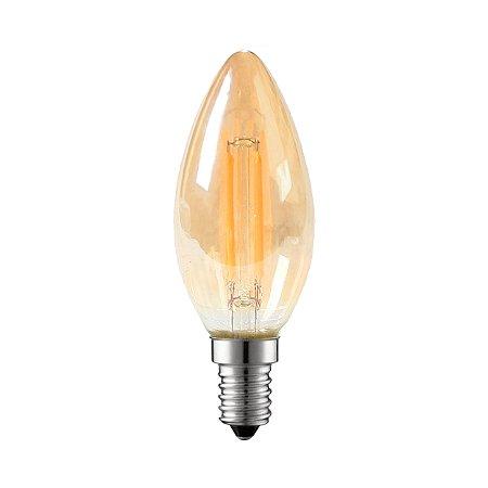 LAMP GOLD GLASS FILAM C35 4W 2200K E14 BIV L002