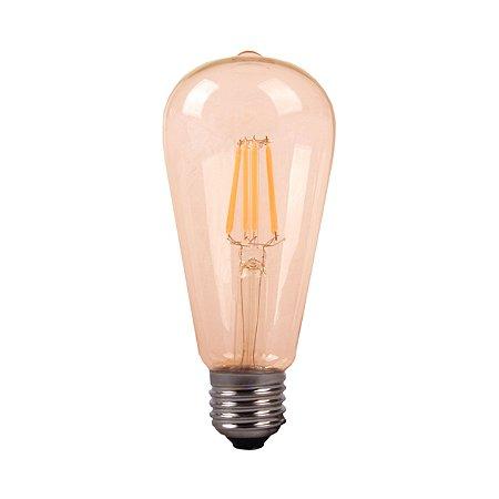 LAMP GOLD GLASS FILAM ST64  4W 2200K  E27 BIV