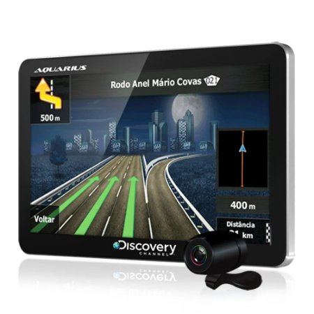"GPS Automotivo Discovery Channel  4.3"" MTC3842 com Câmera de Ré e TV Digital"