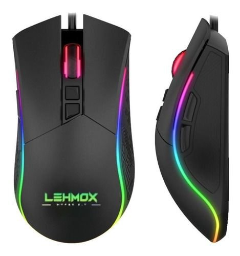 Mouse Gamer Backlight Led Rgb Lehmox Hyper Gt-m2 6400 Dpi