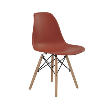 Cadeira Eames Eiffel Laranja Telha
