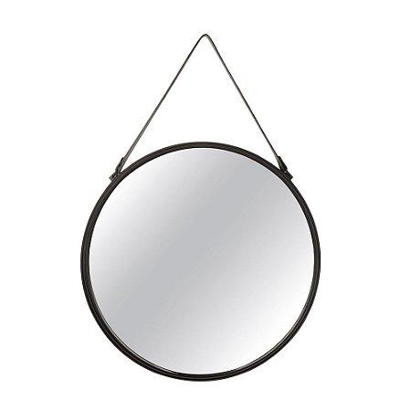 11731 - Espelho Preto Em Metal