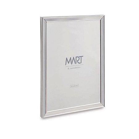 11260 - Porta-retrato Prata Em Metal - 15x20