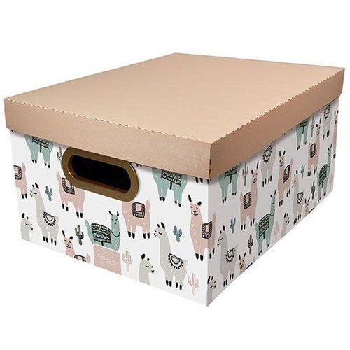 Caixa Organizadora Lhama Dello 38x29x18,5 cm