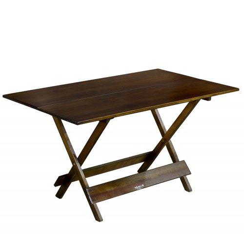 Mesa de Madeira Quadrada Imbuia 1,20x70 Dobravel
