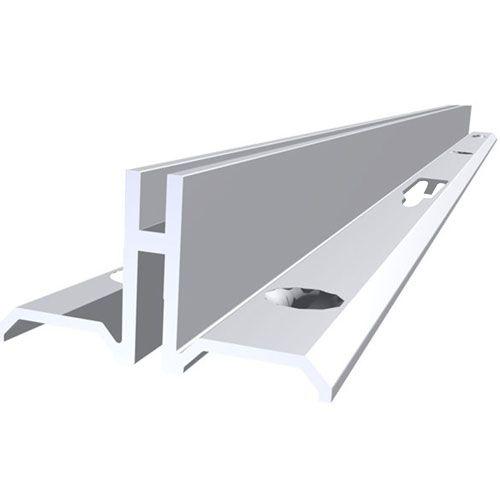 Cremalheira Alumínio Dupla 2,55 mtrs Anod 9500 W