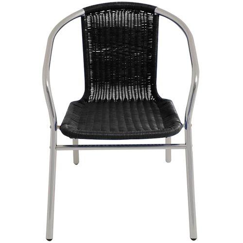 Cadeira Alumínio Rattan MOR - Preta