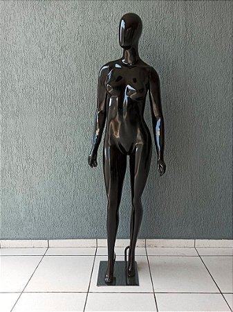 Manequim Feminino de Fibra Preto Modelo