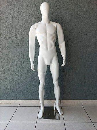 Manequim Masculino de Fibra Forte Reto