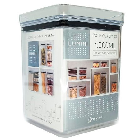 Pote Quadrado Lumini 1000 ml Paramount