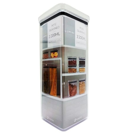 Pote Quadrado Lumini 2200 ml Paramount