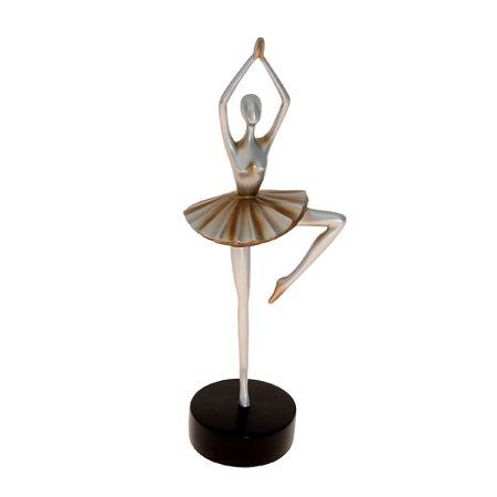 Escultura Bailarina De Cerâmica Decorativo Decorglass