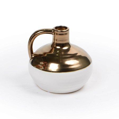 Vaso Cerâmica Pequeno Decorativo Decorglass