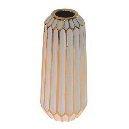 Vaso Decorativo De Cerâmica Decorglass