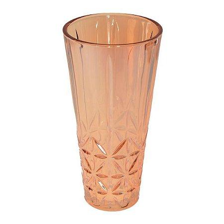 Vaso Decorativo De Vidro Ambar Decorglass 29cm