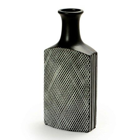 Vaso De Cerâmica Decorativo Decorglass Preto