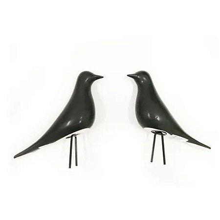 09523 - Pássaro Preto Em Cerâmica Decoração Mart