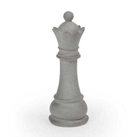 ESCULTURA DE CONCRETO RAINHA XADREZ 18775