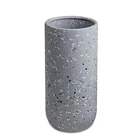 10535 - Vaso Cinza Em Cerâmica