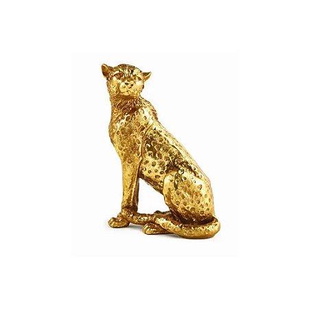12441 - Escultura Leopardo Em Poliresina