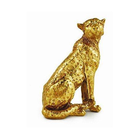 12442 - Escultura Leopardo Em Poliresina