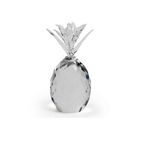 Abacaxi Decorativo em Cristal Grande Decorglass
