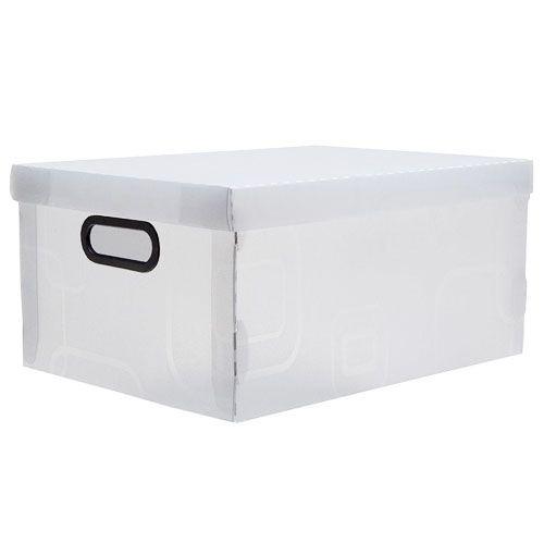 Caixa Organizadora Cristal Dello 38x29x18,5 cm