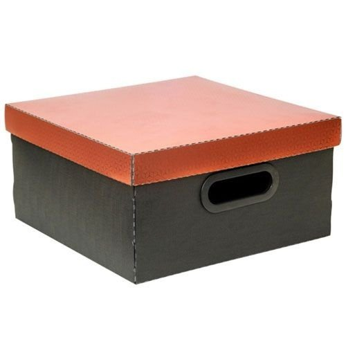 Caixa Organizadora Metalizada Dello 30 x 30 x 16 cm - Cobre