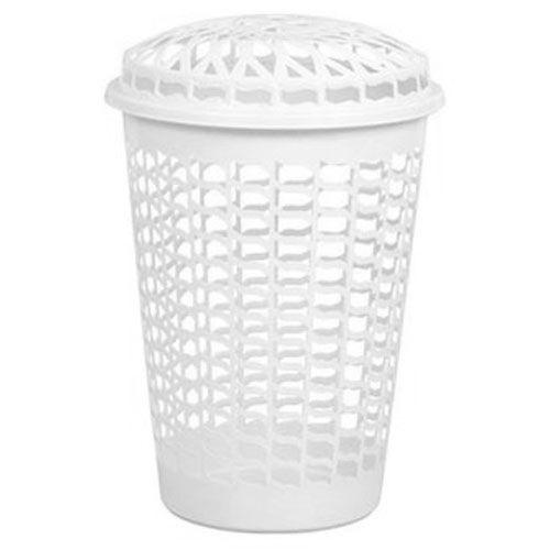 Cesto Plástico Telado com Tampa Para Roupas 60 litros Plasnew