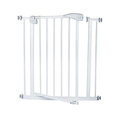 Portão Grade De Proteção Segurança 85x79 Cm Branco Mor
