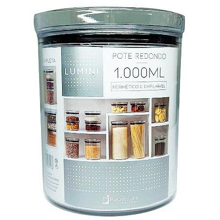 Pote Redondo Lumini 1000 ml Paramount Hermetic