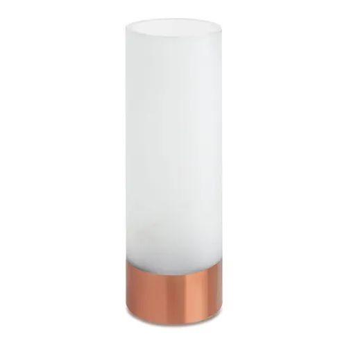Vaso Branco E Rose Gold Em Vidro