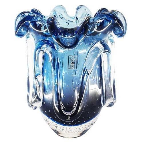 Vaso Em Cristal Murano São Marcos - Escolha A Cor