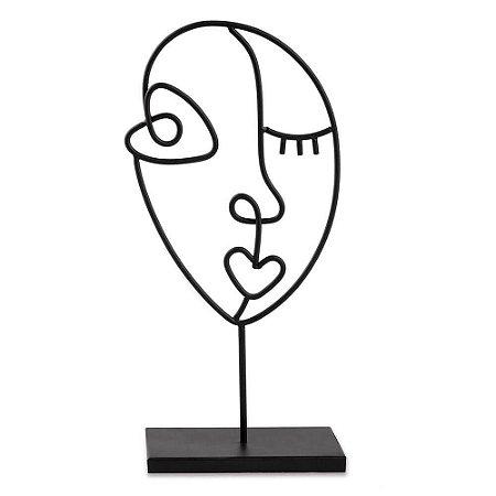 12465 Escultura Preta Em Metal