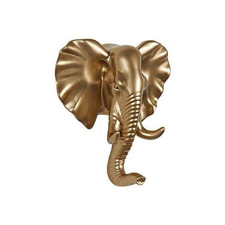 Gancho De Parede Em Resina Elefante Preto 13742